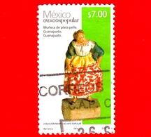 MESSICO -  Usato - 2011 - Arte Popolare - Bambola D'argento - Muneca De Plata Pella - Guanajuato - $ 7.00 - Messico