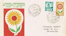 34964. Carta VALENCIA 1966. Recargo PLAN SUR - 1931-Hoy: 2ª República - ... Juan Carlos I