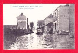 F-44-Nantes-195Ph86  Souvenir Des Inondations 1910, La Route De Roche Maurice, Cpa BE - Nantes