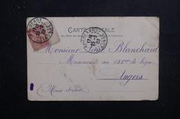 FRANCE - Type Mouchon Avec Millésime 2 Sur Carte Postale , De Bordeaux Pour Angers En 1903 - L 49625 - 1877-1920: Période Semi Moderne