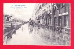 F-44-Nantes-196Ph86  Souvenir Des Inondations 1910, Le Quai Turenne, Cpa BE - Nantes