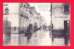 F-44-Nantes-198Ph86  Souvenir Des Inondations 1910, Rues Marmontel Et Des Olivettes, Cpa BE - Nantes