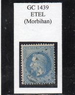 Morbihan - N° 29B Obl GC 1439 Etel - 1863-1870 Napoléon III Lauré