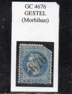 Morbihan - N° 29B (défectueux) Obl GC 4676 Gestel - 1863-1870 Napoléon III Lauré