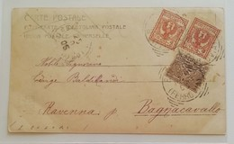 Cartolina Postale Bologna-Bagnacavallo - 24/10/1905 - 1900-44 Vittorio Emanuele III