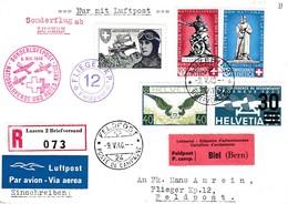 Sonderluftpost - Nationalspende Und Rotes Kreuz Vols Postaux Spéciaux - Poste Aérienne