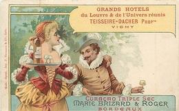 """VICHY - GRANDS HÔTELS Du LOUVRE & De L' UNIVERS Réunis """"TEISSEIRE-DACHER"""" Propriétaires à VICHY - CPA PUB MARIE BRIZARD - Vichy"""