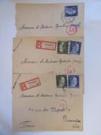 Guerre 39-45 - 3 Enveloppes Provenant Du Camp De Nürnberg (Nuremberg) Vers Beauvais Dont 2 Recommandés, 1943 - Covers & Documents