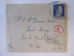 Guerre 39-45 - Enveloppe Provenant Du Camp De Linz à Donau (Autriche) Vers La Grande Croix (Rhône) 1943 - Censure - WW2