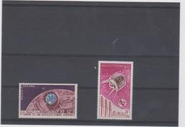 WALLIS ET FUTUNA 2 T Neufs Xx  N° YT PA 20  22 - 1962 1965 - Telecommunications Spatiales - Neufs