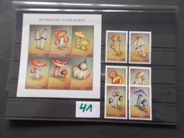 GHANA    -  CHAMPIGNONS   Blocs Feuillets + Timbres   Neuf XX Voir Photo ( 41 ) - Mushrooms