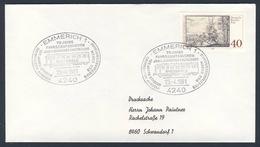 Deutschland Germany 1981 Brief Cover - 75 Jahre Fahrbeambtenverein, 125 Jahre Strecke Arnhem-Oberhausen,Briefmarkenschau - Treinen
