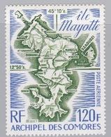 COMORES  :  Yvert :  PA 61    Neuf XX  Ile Mayotte Cote 10,50 € - Isla Comoro (1950-1975)