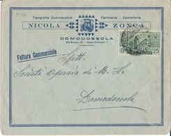 DOMODOSSOLA 26-6-1931 FATTURA COMMERCIALE CENTENARIO ANTONIANO CENT. 25 - 1900-44 Vittorio Emanuele III