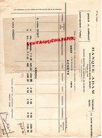 62- BOULOGNE SUR MER - BANQUE ADAM - ORDRE DE BOURSE PARIS- AGENCE SAINT MAIXENT - 1927 - Banca & Assicurazione