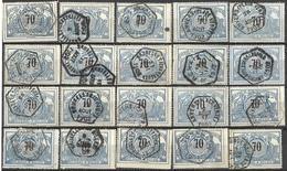 9SP-902: 20 Spoorwegzegels TR23  Met Een Hexagoneststempel: Restje... Verder Uit Te Zoeken.. - 1895-1913