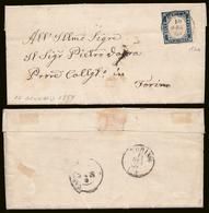 IV: 20 Cent.(15Aa) Su Lettera Ann NUORO (p.3) Due Marg. Stretti (€ 287,50) - Sardegna