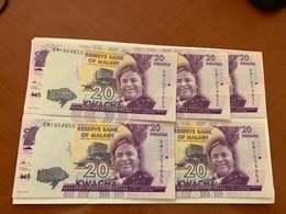 Malawi 20 Kwacha Unc. Banknote Lot - Malawi