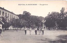 HOPITAL DE ST MANDRIER   VUE GENERALE   CARTE ANIMEE - Saint-Mandrier-sur-Mer