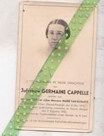 Germaine Capelle-Van Robaeys, Killem (Fr) 1919, Ongeval Veurne 1938 - Décès