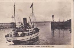 CPA   Belle Ile En Mer (56)  Bateaurtant Du Port   Solacroup Nantes   Ed LL N° 111 - Belle Ile En Mer