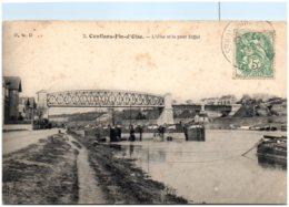 78 CONFLANS-FIN-d'OISE - L'Oise Et Le Pont Eiffel - Conflans Saint Honorine