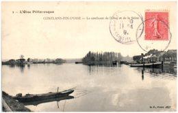 78 CONFLANS-FIN-d'OISE - Le Confluent De L'OIse Et De La Seine - Conflans Saint Honorine