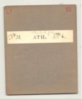 Carte De Géographie Toilée - ATH 1876 - Levée Et Nivelée 1866 (b271) - Geographische Kaarten