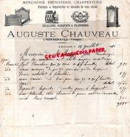 85- L' HERMENAULT- RARE LETTRE MANUSCRITE AUGUSTE CHAUVEAU -MENUISERIE EBENISTERIE-CHARPENTERIE- 1910  VENDEE - Artigianato