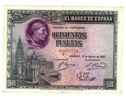 Billete De 500 Pesetas - Circulado - [ 1] …-1931 : Prime Banconote (Banco De España)