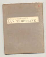 Carte De Géographie Toilée - TEMPLEUVE 1893 - Levée Et Nivelée 1883 (b271) - Geographical Maps