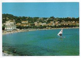SAINTE MAXIME--1987--La Plage (planche à Voile)......timbre....cachet - Sainte-Maxime