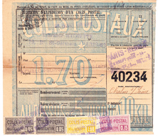 """CP 17 X 2, 24 Et 27 Sur Bulletin D'expédition PERFORE """"librairie Hachette"""" à Paris, Pour Chalon-sur-Saône (1920) - Spoorwegzegels"""