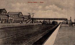 INDIA // INDE. Jhansi, Railway Station - Inde