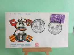 Europe CEPT - Perpignan - 5.5.1963 FDC 1er Jour Coté ..€ (jumelage Avec Hanovre) - 1963