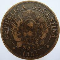 LaZooRo: Argentina 2 Centavos 1884 VF - Argentine