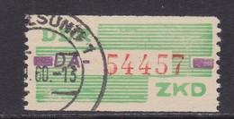 ZKD Wertstreifen Dienstmarken-B Michel Nr. 24 DA (geprüft Engel) - Servizio