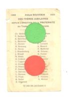 Image Pieuse = Pieux Souvenir Des Frères Jubilaires De La Fraternité Du Tiers=Ordre à VERVIERS 1895 / 1931 (k) - Images Religieuses