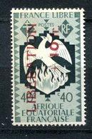 AEF - Surcharge Libération - Yvert 187 - Maury 195 - Neuf Avec Légère Trace De Charnière - T 924 - Neufs
