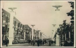 """1937, """"Staatstreffen Mussolini-Hitler"""". Strasse Im Festschmuck Mit Sonderstempel - Allemagne"""