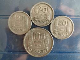ALGERIE 100 FRANCS 1950 ET 3 X 20 FRANCS 1949 - Colonie