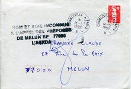 Ardennes. Ambulant CHARLEVILLE A PARIS B 1992 - Marcophilie (Lettres)