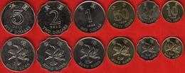 Hong Kong Set Of 6 Coins: 10 Cents - 5 Dollars 1993-1998 UNC - Hong Kong