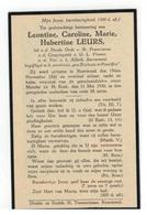 Roermond (Nl) Doodsprentje Leontine,Caroline,Marie,Hubertine LEURS 1930 - Religione & Esoterismo
