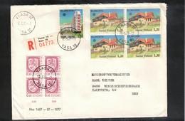 Finland 1978 Interesting Registered Cover - Briefe U. Dokumente