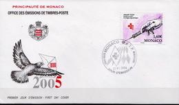 Monaco Stamp On FDC - Medicine