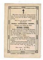 Roermond (Nl) Doodsprentje MARIA CATHARINA MOENS Weduwe V HENDRIK LINSSEN 1850 - Godsdienst & Esoterisme