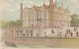 CPA à Système PARIS Exposition 1900 Pavillon Britannique Carte Tansparente Contre La Lumière Against Light (2 Scans) - Contraluz