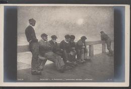 SALON  1903__SARDINIERS BRETONS - CHOMAGE  Par G. MARONIEZ   (theme) - Pintura & Cuadros