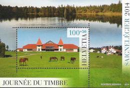 SCHWEIZ SUISSE 2014: JOURNÉE DU TIMBRE SAIGNELÉGIER Zu W103 Mi Block 58 ** MNH à Prix Postal - Zum Postpreis - Tag Der Briefmarke